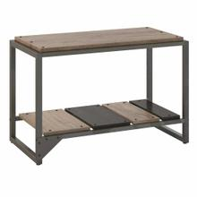 See Details - Shoe Storage Bench, Rustic Gray/Charred Wood