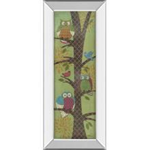 """Fantasy Owls Panel I"" By Paul Brent Mirror Framed Print Wall Art"