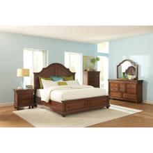 Windward Bay - King Low Storage Footboard - Warm Rum Finish