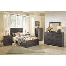 View Product - Full Panel Bed With Mirrored Dresser, Chest and Nightstand