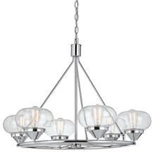 60W X 6 Maywood Glass Chandelier (Edison Bulbs Not included)