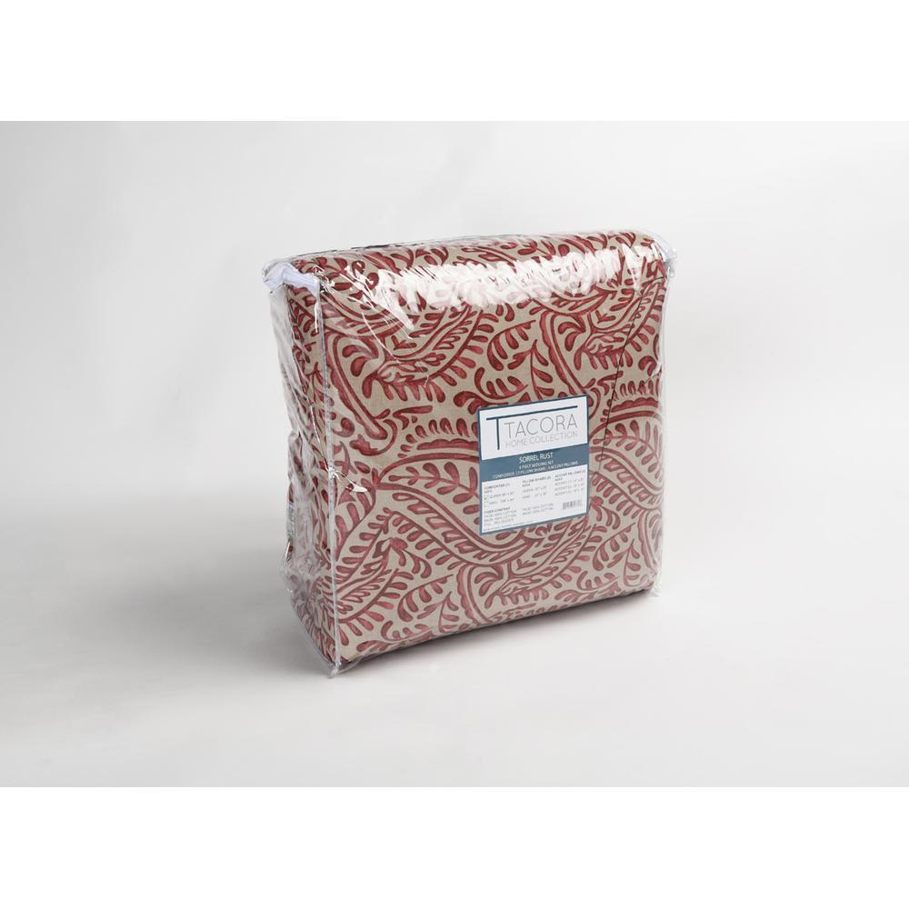 See Details - Sorrel Rust Queen Comforter Set