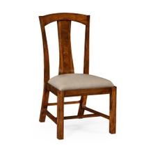 Striped inlay side chair