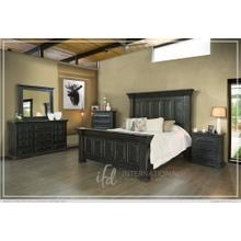 Terra Black King Bed