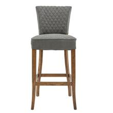 See Details - Quilted Barstool - Gray