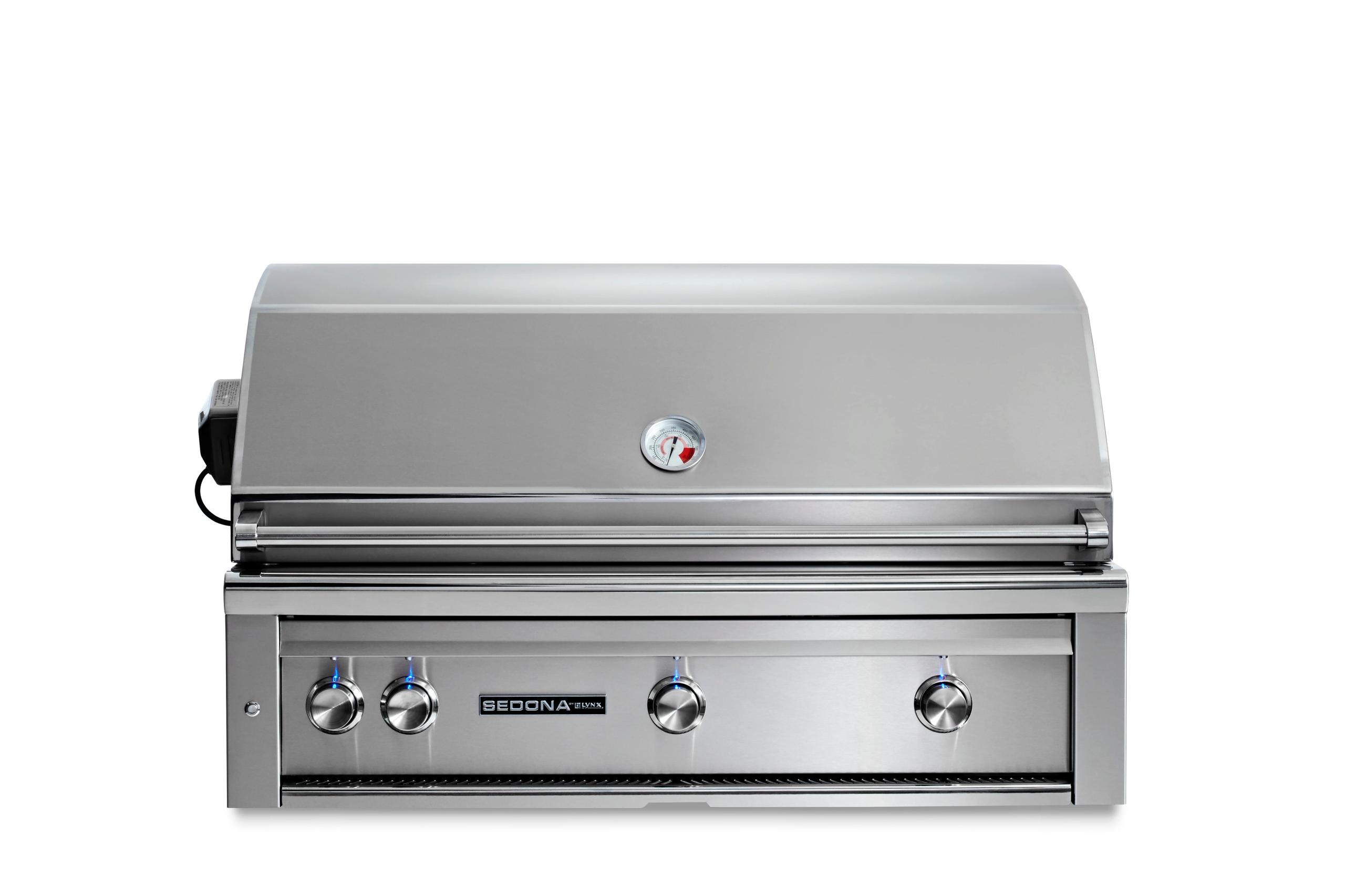 """Lynx42"""" Sedona By Lynx Built In Grill With 3 Stainless Steel Burners And Rotisserie, Ng"""