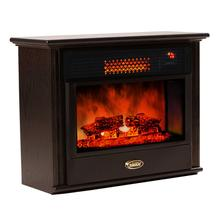 SUNHEAT USA Cabinetry Infrared Fireplace Heater - Black