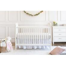 Warm White Liberty 3-in-1 Convertible Spindle Crib with Toddler Bed Conversion Kit