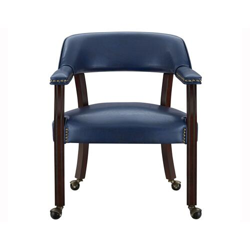 Tournament Arm Chair w/Casters, Navy