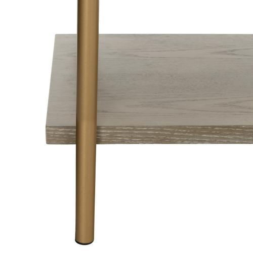 Rigby 5 Tier Etagere - Gold Liquid / Rustic Oak