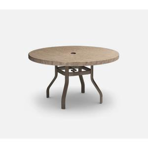 """42"""" Round Dining Table (no Hole) Ht: 27.25"""" 37XX Universal Aluminum Base (Model # Includes Both Top & Base)"""