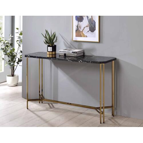 Daxton Faux-Marble Top Sofa Table