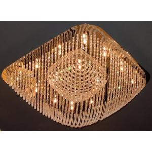 Crystal Flush Mount Lamp, Chrome/crystals, Type Jc/g4 20wx16