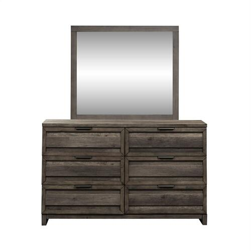 King Panel Bed, Dresser & Mirror, N/S