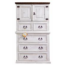 Weathered White Mansion Chest With Wax Top