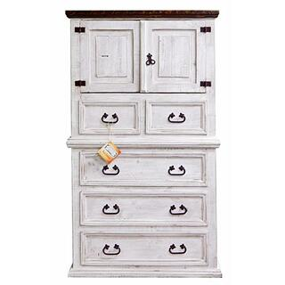 See Details - Weathered White Mansion Chest With Wax Top