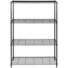 Delta 4 Tier Chrome Wire Rack - Black Powder Coated