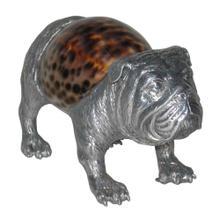 View Product - Bulldog Sculpture - Aluminum & Seashell