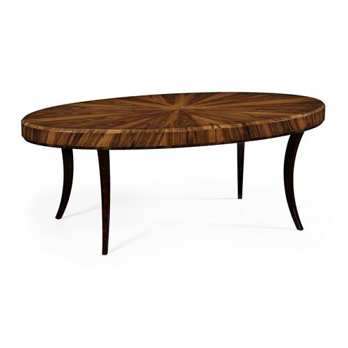 Art Deco Satin Oval Coffee Table