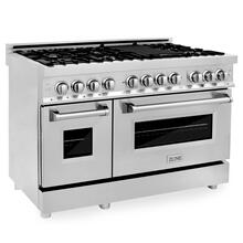 """View Product - ZLINE 48"""" Professional Dual Fuel Range in Stainless Steel with Color Door Options (RA48) [Color: Stainless Steel]"""