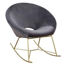 Nolan Grey Velvet Rocking Chair