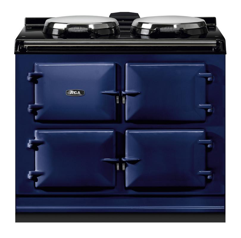 """AGAAga Dual Control 39"""" Electric/natural Gas Dark Blue With Stainless Steel Trim"""