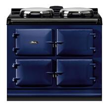"AGA Dual Control 39"" Electric/Natural Gas Dark Blue with Stainless Steel trim"