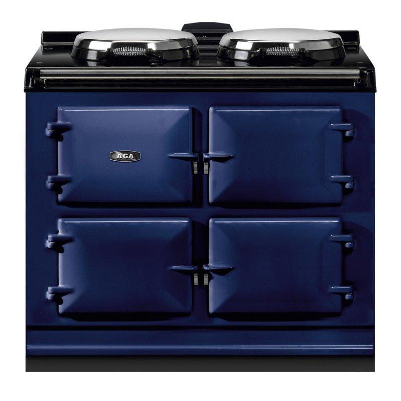 """AGA Dual Control 39"""" Electric/Natural Gas Dark Blue with Stainless Steel trim"""