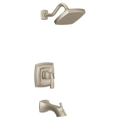 Voss brushed nickel m-core 3-series tub/shower