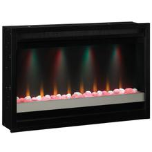 "36"" Contemporary Built-In Electric Fireplace Insert, 120v"