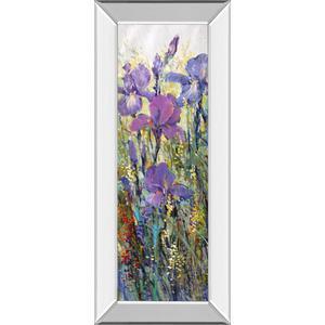 """""""Iris Field I"""" By Tim Otoole Mirror Framed Print Wall Art"""
