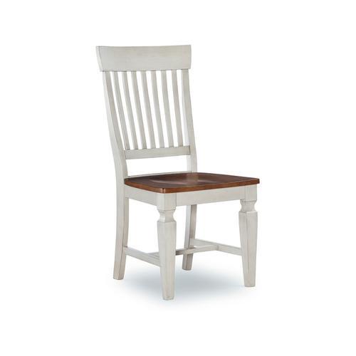 John Thomas Furniture - Slatback Chair in Hickory & Shell