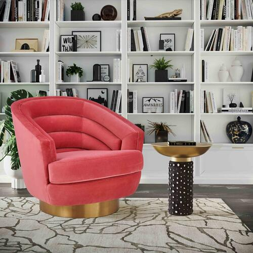 Canyon Hot Pink Velvet Swivel Chair