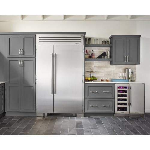 48 Inch Solid Stainless Door Side-by-Side