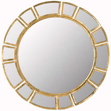 See Details - Deco Sunburst Mirror - Antique Gold
