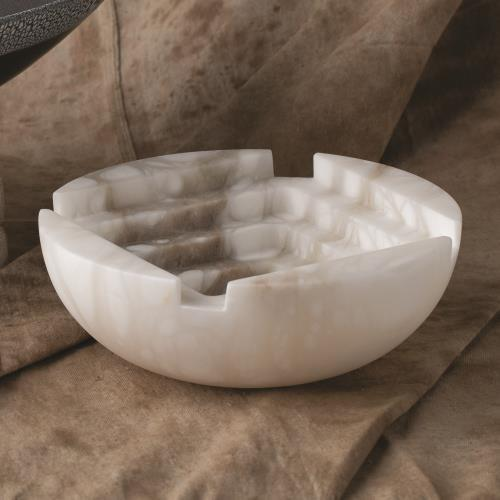 Stepwell Bowl-Alabaster