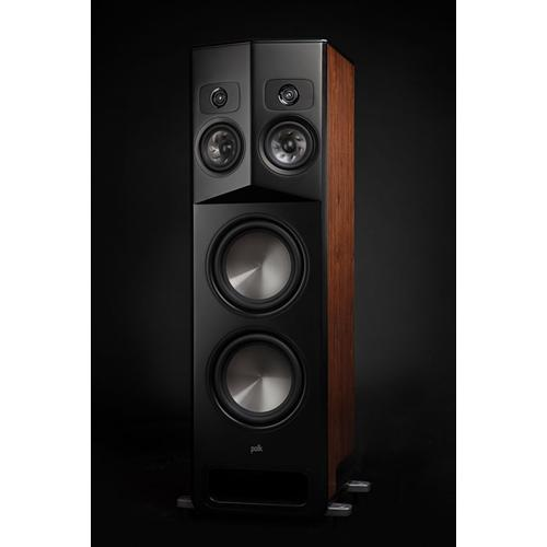Polk Legend Series Premium Floorstanding Tower Speaker with Patented SDA-PRO Technology in L800 L Brown Walnut