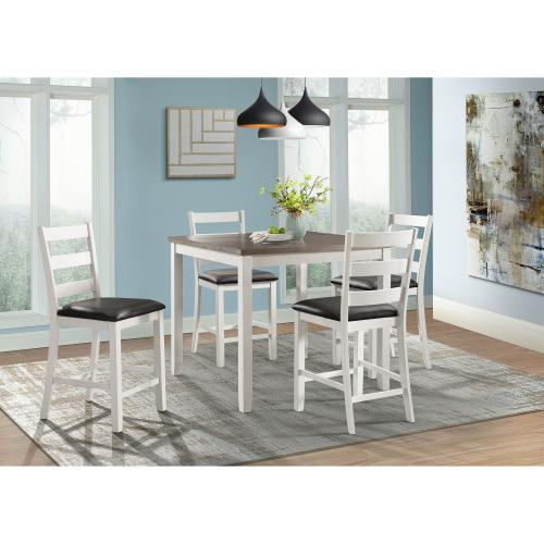 Martin Brown 5PC Counter Height Dining Set-Table & Four Chairs