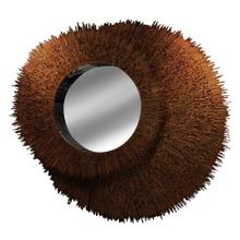 Eclipse Mirror Constructed of Natural Cherry Wood with LED Light between layers