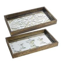 S/2 Greta Rectangular Trays LG