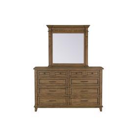 Aspen Beveled Mirror, Brown