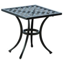 "Weave Injection 21"" Square Side Table"