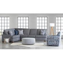 See Details - Fairview Left Corner Sofa in Bennett Charcoal