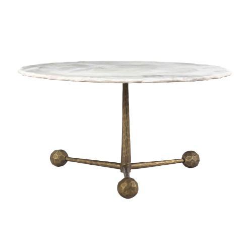 Orbital White Marble Cocktail Table