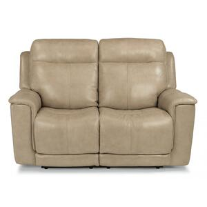 FlexsteelMiller Power Reclining Loveseat with Power Headrests & Lumbar