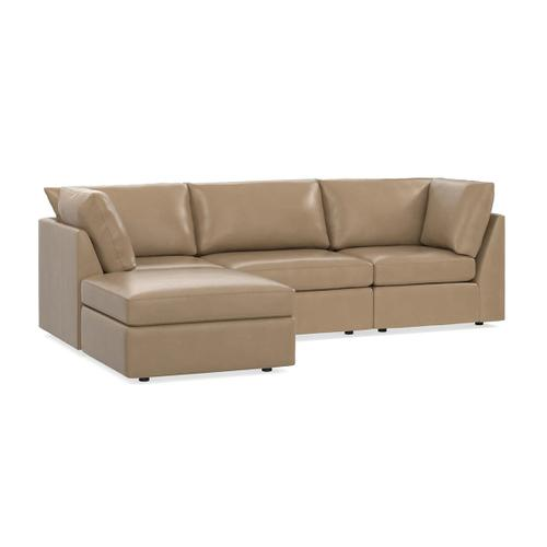 Bassett Furniture - Beckham Leather Small Chaise Sectional