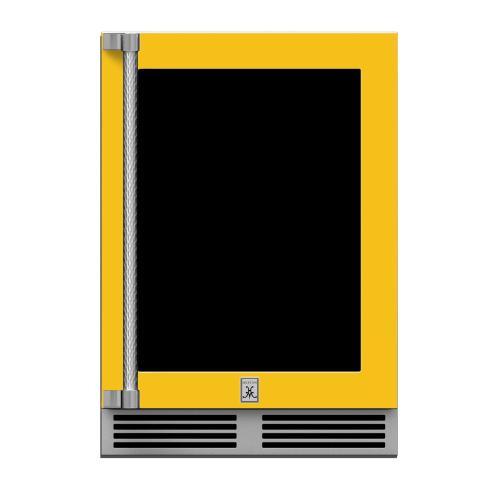 "24"" Hestan Outdoor Dual Zone Refrigerator with Wine Storage (UV-Coated Glass Door) - GRWG Series - Sol"