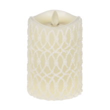 Carved Brushed Wax Pillar