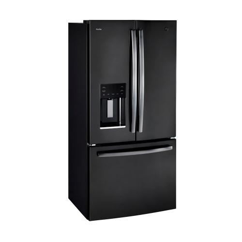 GE Profile 17.5 Cu. Ft. Energy Star Counter-Depth French Door Refrigerator Black Stainless Steel - PYE18HBLKTS