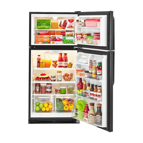 Haier - Haier 18.1-Cu.-Ft. Top Mount Refrigerator - black